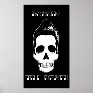 Rockin Till Death Skull poster