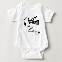 Rockin' to a Different Tune - Music Never Sleeps Baby Bodysuit