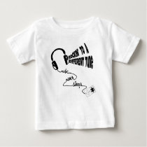 Rockin' to a Different Tune - Music Never Sleeps Baby T-Shirt