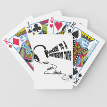 Rockin' to a Different Tune - Music Never Sleeps Bicycle Playing Cards