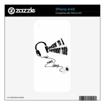 Rockin' to a Different Tune - Music Never Sleeps Decal For The iPhone 4