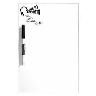 Rockin' to a Different Tune - Music Never Sleeps Dry Erase Board