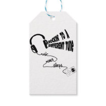 Rockin' to a Different Tune - Music Never Sleeps Gift Tags