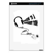 Rockin' to a Different Tune - Music Never Sleeps iPad 3 Decals