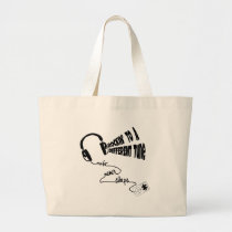 Rockin' to a Different Tune - Music Never Sleeps Large Tote Bag