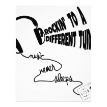 Rockin' to a Different Tune - Music Never Sleeps Letterhead