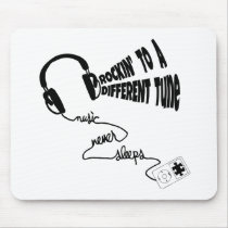 Rockin' to a Different Tune - Music Never Sleeps Mouse Pad