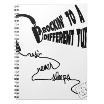 Rockin' to a Different Tune - Music Never Sleeps Notebook