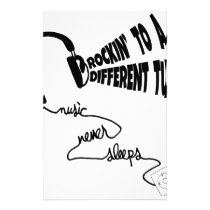 Rockin' to a Different Tune - Music Never Sleeps Stationery