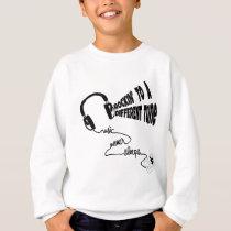 Rockin' to a Different Tune - Music Never Sleeps Sweatshirt