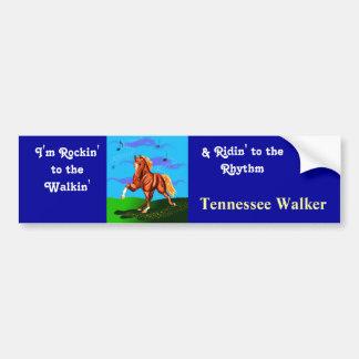 Rockin' to the Walkin' Tennesee Walker sticker Car Bumper Sticker