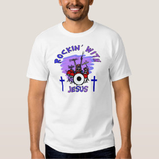 Rockin' With Jesus Christian Gift T-Shirt