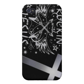 Rockin With Jesus Cross Case For iPhone 4