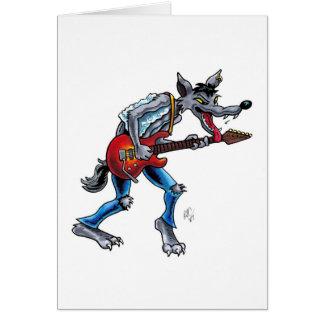 Rockin' Wolf Get Well Card