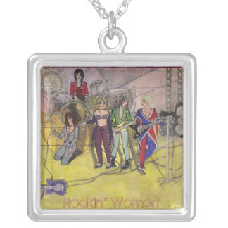 Rockin' Women Square Pendant Necklace