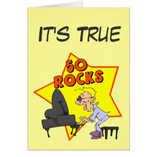 Rocking 50th Birthday Card