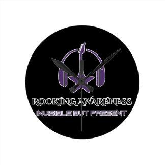 Rocking Awareness Round Clock