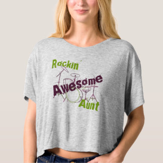 Rocking Awesome Aunt T-shirt