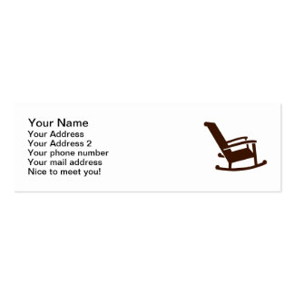 Rocking chair Double-Sided mini business cards (Pack of 20)
