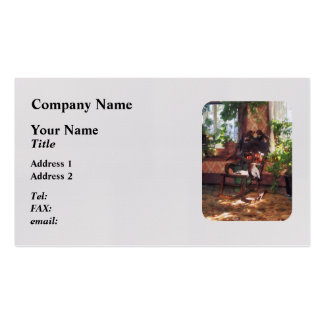 Rocking Chair in Victorian Parlor Double-Sided Standard Business Cards (Pack Of 100)