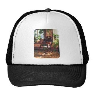 Rocking Chair in Victorian Parlor Trucker Hat