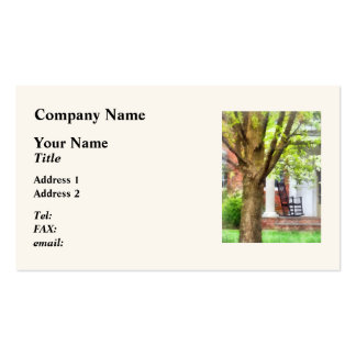Rocking Chair on Porch Double-Sided Standard Business Cards (Pack Of 100)