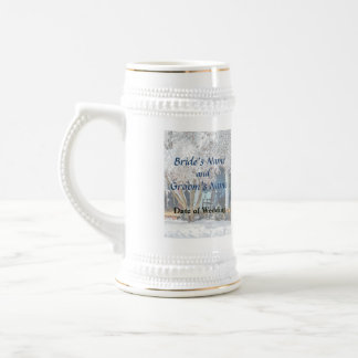 Rocking Chair on Porch in Winter Wedding Products Beer Stein