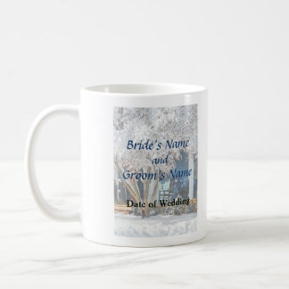 Rocking Chair on Porch in Winter Wedding Products Coffee Mug