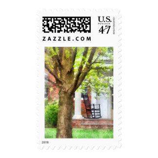 Rocking Chair on Porch Postage Stamp