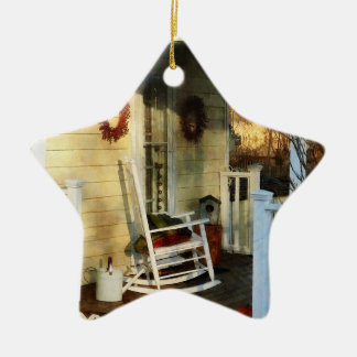 Rocking Chair on Side Porch Ceramic Ornament