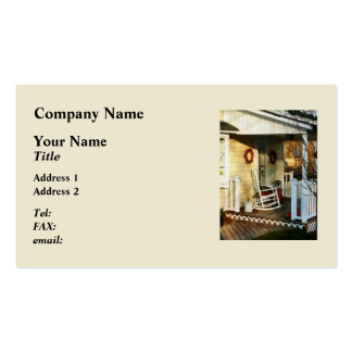 Rocking Chair on Side Porch Double-Sided Standard Business Cards (Pack Of 100)