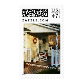 Rocking Chair on Side Porch Postage Stamp