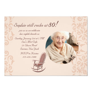 Rocking Chair Photo Invitation