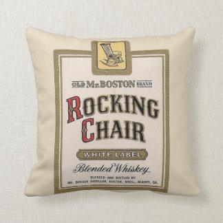Rocking Chair Whiskey bar gameroom vintage pillow