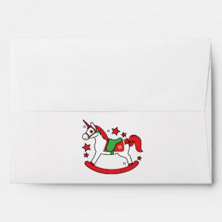 Rocking Christmas Unicorn Envelope
