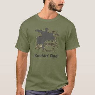 Rocking Dad ~ Drummer Father's Day Tee