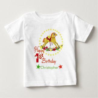 Rocking Horse 1st Birthday Baby T-Shirt