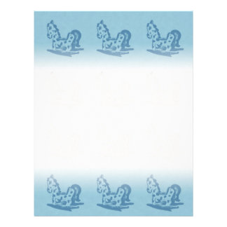 Rocking Horse (Aqua Blue) Writing Paper Letterhead