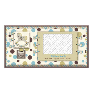 Rocking Horse Baby Announcement Photo Card