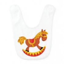 Rocking Horse Baby Bib