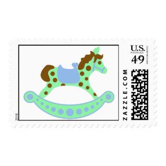 Rocking Horse Baby Boy Stamp