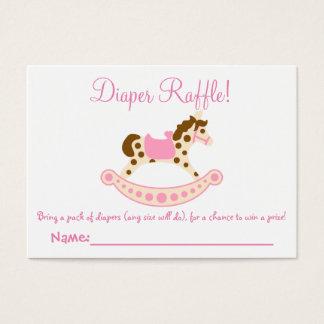 Rocking Horse Baby Shower Diaper Raffle Tickets