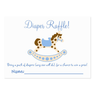 Rocking Horse Baby Shower Diaper Raffle Tickets Large Business Cards (Pack Of 100)
