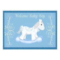 Rocking Horse  Baby Shower Invitation (Boy)