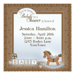 Rocking horse baby shower invitations announcements zazzle rocking horse baby shower invitations filmwisefo Gallery