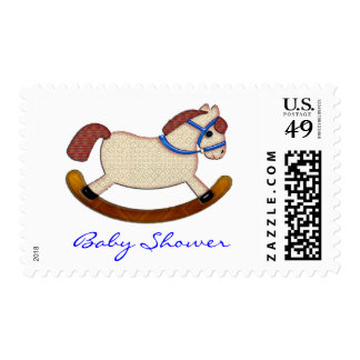 Rocking Horse Baby Shower Invite Postage