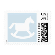 Rocking horse baby shower party postage stamps