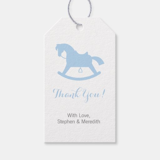 Personalized Baby Gift Baskets Rocking Horse : Rocking horse baby shower personalized gift tags zazzle