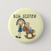 Rocking Horse Big Sister T-shirts and Gifts Button