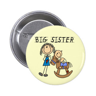 Rocking Horse Big Sister T-shirts and Gifts Pinback Button